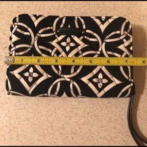 Vera Bradley quilted zipper wristlet